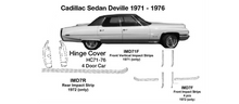 Load image into Gallery viewer, Cadillac Sedan DeVille Front Vertical Impact Strips 1971  IMD71F