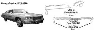 Chevrolet Caprice Rear Filler Kit 1975 1976