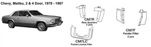 Load image into Gallery viewer, Chevrolet Malibu: 2 & 4 Door Quarter Fillers 1978 1979 1980 1981 1982 1983 1984 1985 1986 1987  CM7R