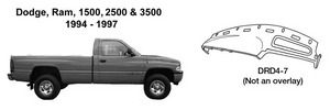 Dodge Trucks Ram 1500, 2500, 3500 Dash Replacement 1994 1995 1996 1997  DRD4-7