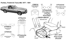 Load image into Gallery viewer, Pontiac Firebird / Trans Am Interior Rear Insert 1977 1978 1979 1980 1981  CTTIR01K