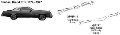 Pontiac Grand Prix Front Fillers 1977  GP7F7