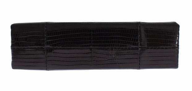 Bag Black Varano Lizard Shoulder Evening Party Clutch