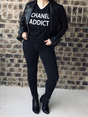 EXCLUSIVE EDITION Chanel Addict T Shirt Black