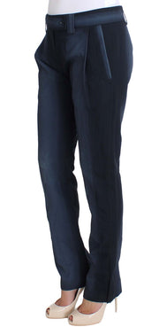 Blue Cotton Dress Formal Pants