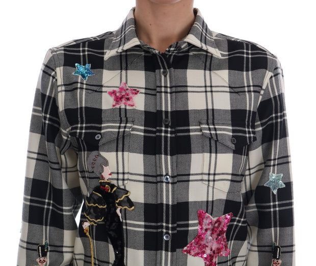 Black White Fairy Tale Crystal Shirt