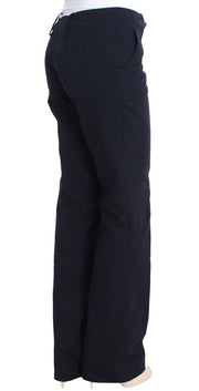 Blue Cotton Silk Dress Formal Pants