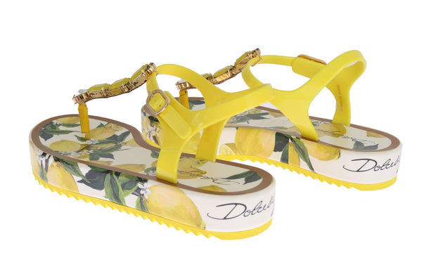 Lemon Crystal Beachwear Sandals