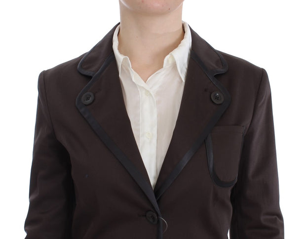 Brown Stretch Two Button Suit