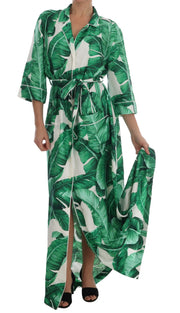 Banana Silk Long Robe Kaftan Dress