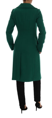 Green Wool Trenchcoat Long Coat