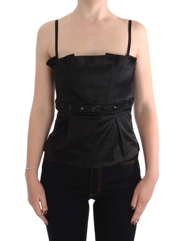 Black Tank Party Evening Top Blouse