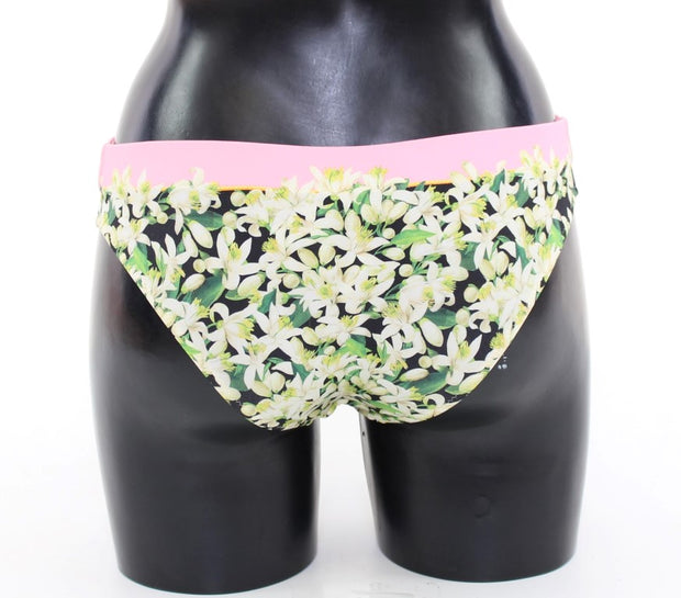 Pink Floral Bikini Bottom Swimwear Beachwear