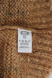 Brown Wool Blend Knitted Oversize Sweater