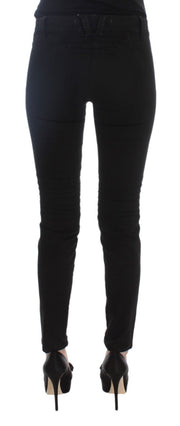 Black Cotton Slim Fit Stretch Jeans