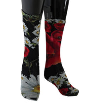Multicolor Floral Roses Nylon Socks