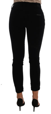 Black Corduroy Cotton Stretch Jeans