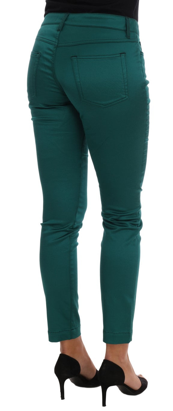 Aquamarine Cotton Stretch Jeans