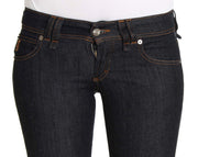 Dark Blue Slim Fit Cotton Stretch Denim Jeans