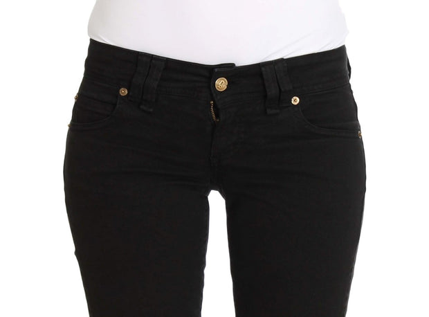 Black Slim Fit Cotton Stretch Denim Jeans