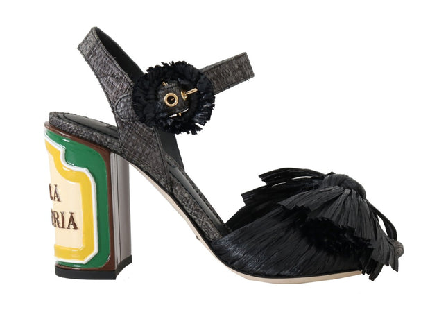 Black Antica Trattoria Sandals