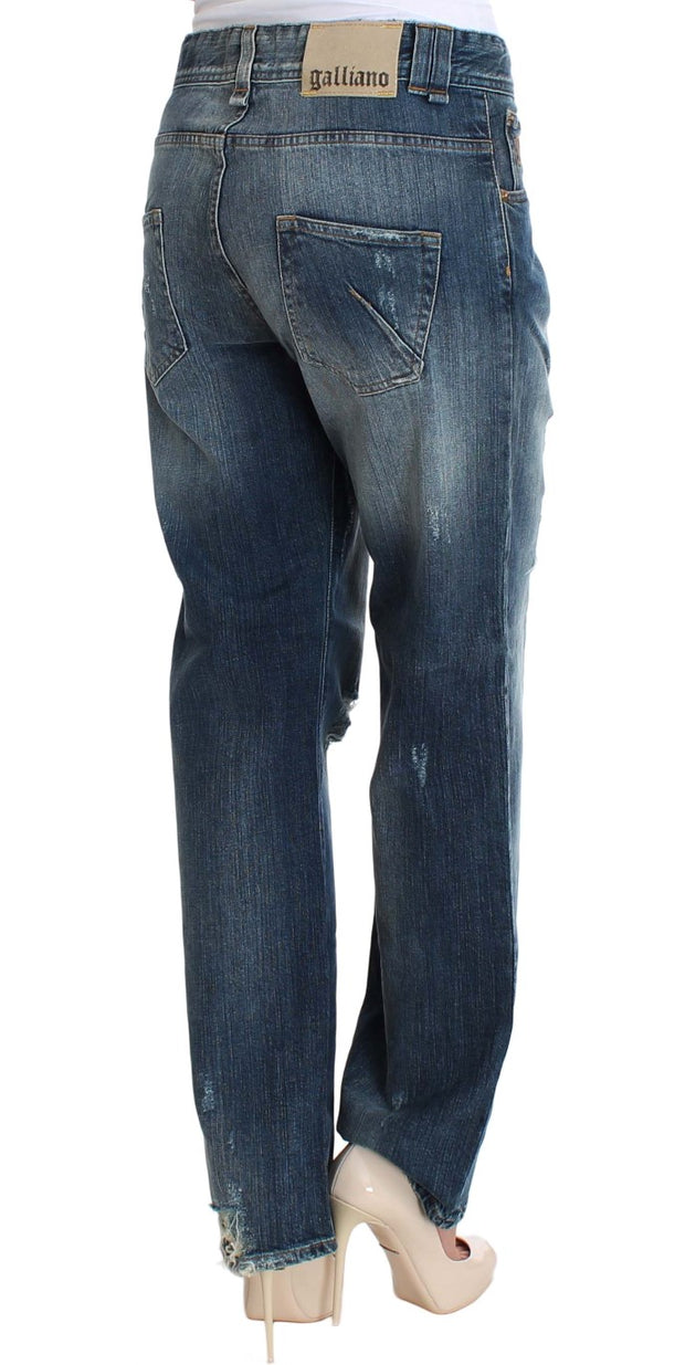Blue Wash Cotton Stretch Relaxed Fit Jeans
