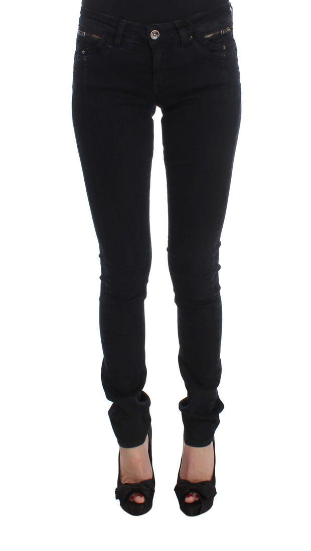 Black Cotton Slim Fit Denim Jeans
