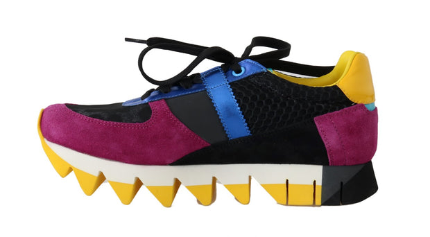 Multicolor Leather Sneakers Shoes
