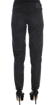 Black Cotton Blend Regular Fit Pants
