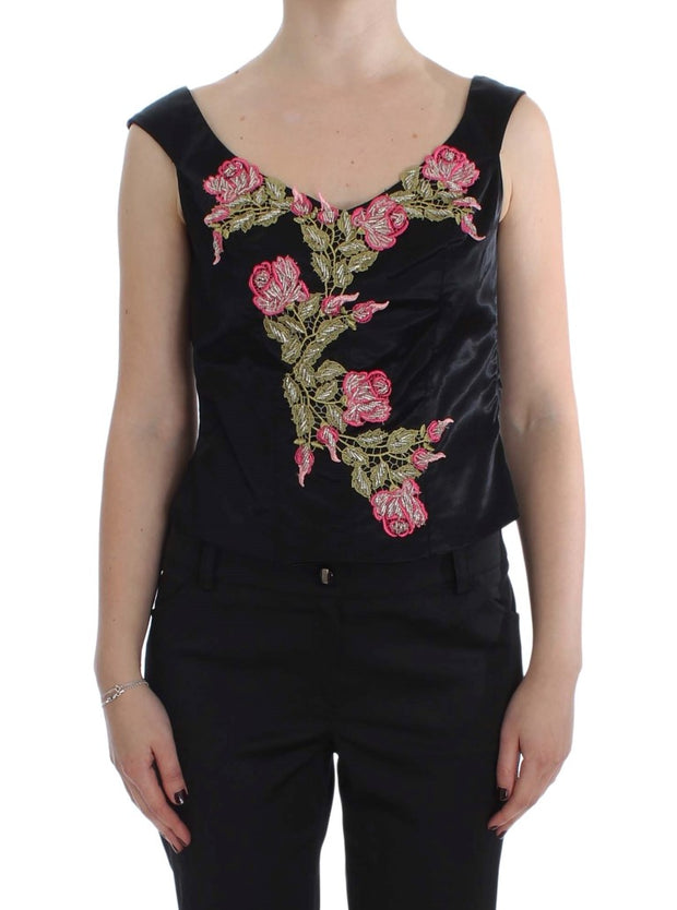 Floral Silk Stretch Tank Top