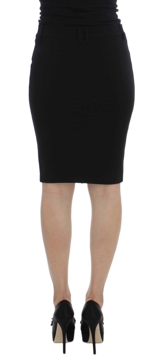 Black Straight Pencil Skirt