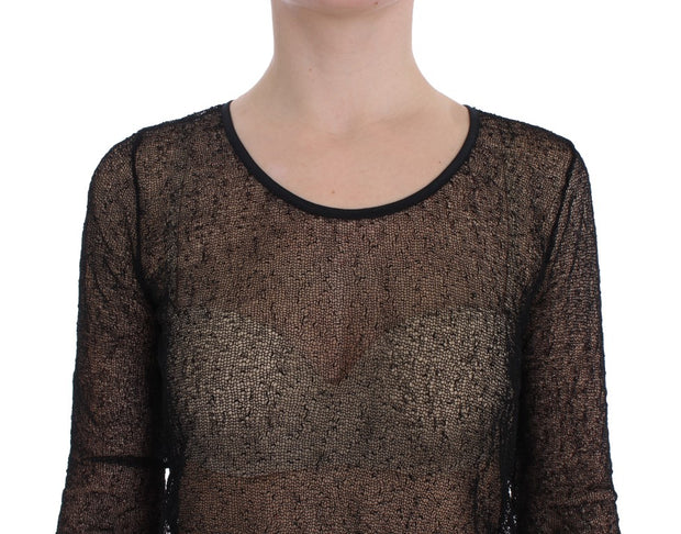 Black Transparent Blouse Top