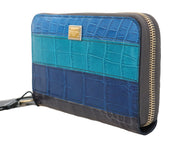 Blue Crocodile Leather Continental Wallet