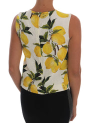 Multicolor Lemon-Print Floral Top