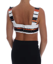Multicolor Sequined Stretch Bustier Top