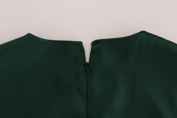 Green Silk Stretch Tank Top