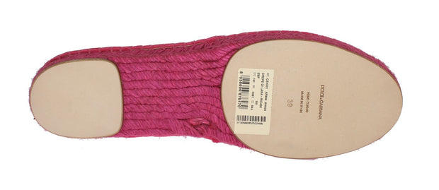 Pink Wool Espadrilles Loafers