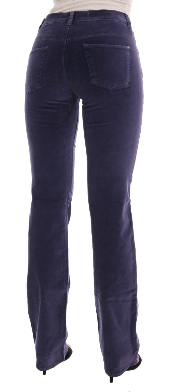 Purple Corduroy Stretch Bootcut Pants