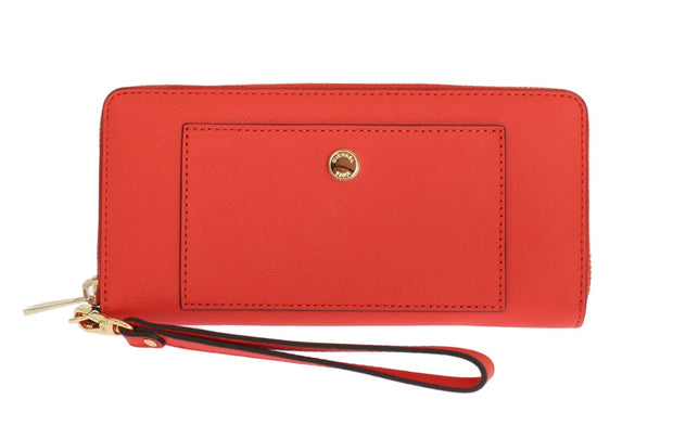 Red GREENWICH Continental Leather Wallet