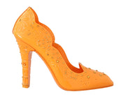 Orange CINDERELLA Crystal Shoes