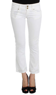 White Cotton Capri Jeans