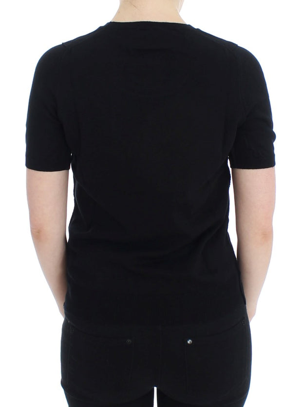 Black Crewneck Sweater T-shirt