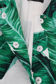 Banana Leaf Silk Cotton Trench Coat