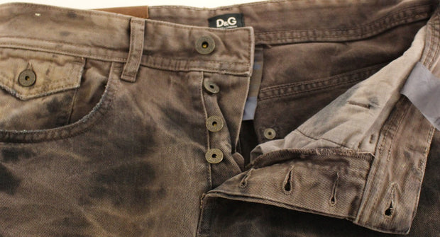 Brown Cotton Regular Fit STYLISH Jeans
