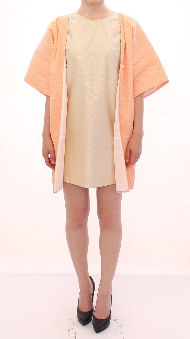 Pink Short Sleeves Jacket Coat