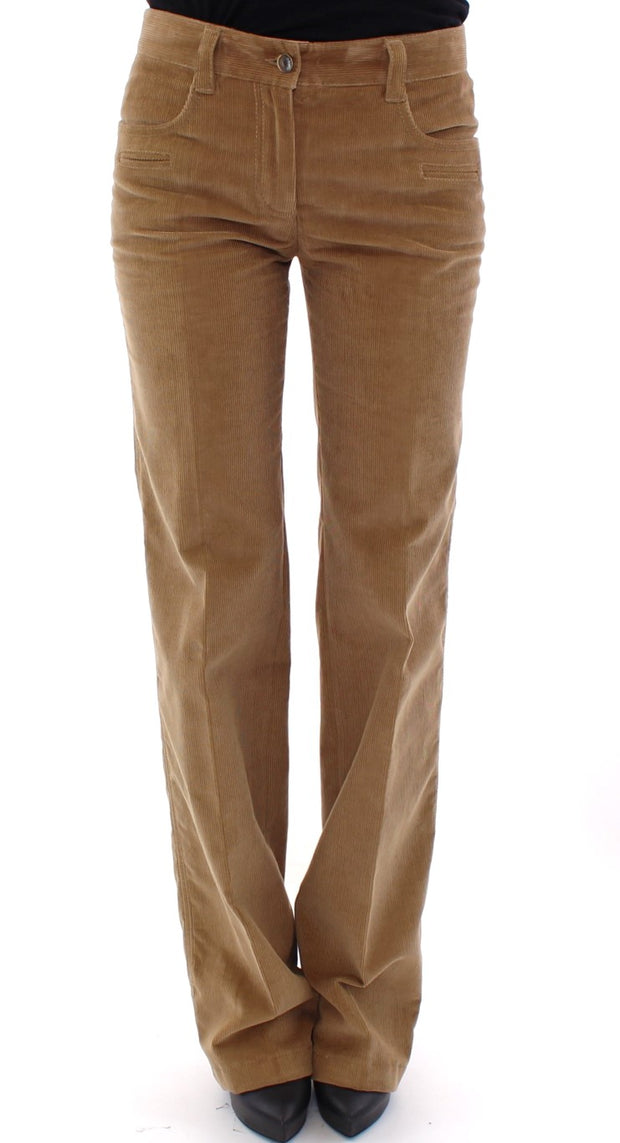 Brown Cotton Corduroys Jeans Pants