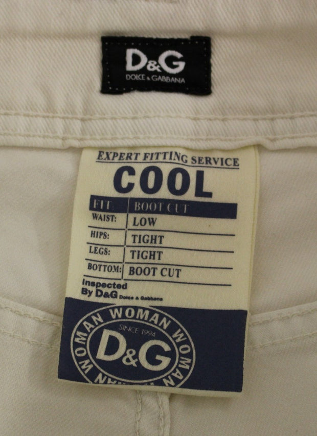 White COOL Cotton Regular Fit Jeans Pants