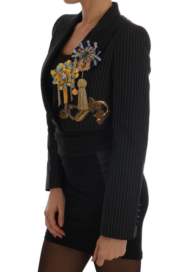 Black Crystal Blazer Jacket