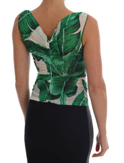 Banana Print Silk Cami Top
