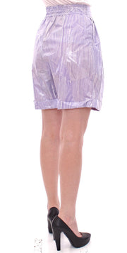 Purple Above-Knee Wrap Shorts